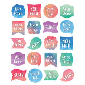 TCR8974 Watercolor Stickers Image