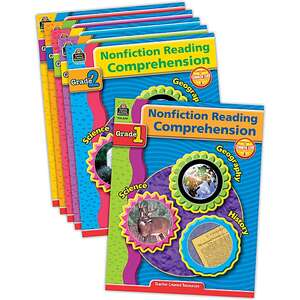 TCR9078 Nonfiction Reading Comprehension Set (6 books) Image