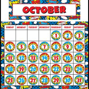 TCR9540 Superhero Calendar Set Image