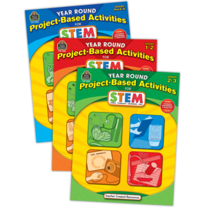 TCR9636 Year Round Project-Based Activities for STEM Set (3 bks) Image