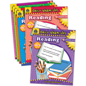 TCR9806 Daily Warm-ups: Reading Set (6 books) Image