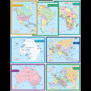 TCR9899 Continents Charts Set (7 charts) Image