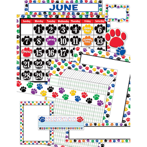 TCR9901 Colorful Paw Prints Set Image