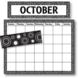 TCR9946 Black/White Crazy Circles Calendar Set Image