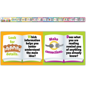 TCRA017 Reading Comprehension Chalkboard Toppers                 Image