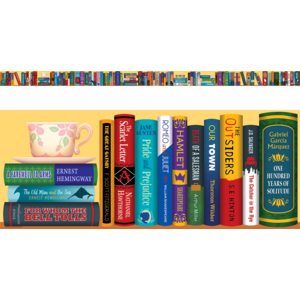 TCRA020 Bookshelf of the Classics Chalkboard Topper                 Image