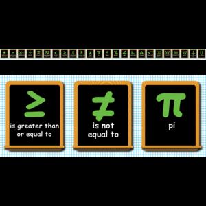 TCRA1352 Math Symbols Chalkboard Topper Image