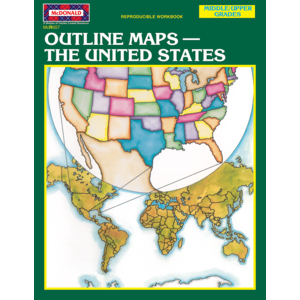 TCRR657 Outline Maps: The United States Reproducible Workbook Image