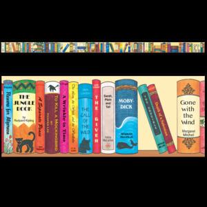 TCRY1520 Bookshelf of the Classics Border Trim Image