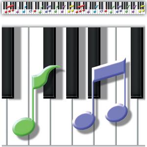 TCRY1538 Keys to Music Border Trim Image