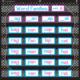 Chalkboard Brights 7 Pocket Chart Alternate Image A