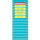Light Blue Marquee 14 Pocket Chart Alternate Image A