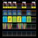 Black Storage Pocket Chart Alternate Image A