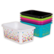 Assorted Confetti Small Plastic Storage Bins Set 6-Pack Alternate Image A