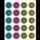 Chalkboard Brights Numbers Stickers Alternate Image B