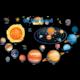 Solar System Bulletin Board Display Set Alternate Image A