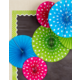 Polka Dots Hanging Paper Fans Alternate Image A