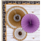 Shabby Chic Burlap Hanging Paper Fans Alternate Image A