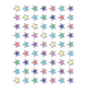 Iridescent Colorful Stars Mini Stickers Alternate Image A