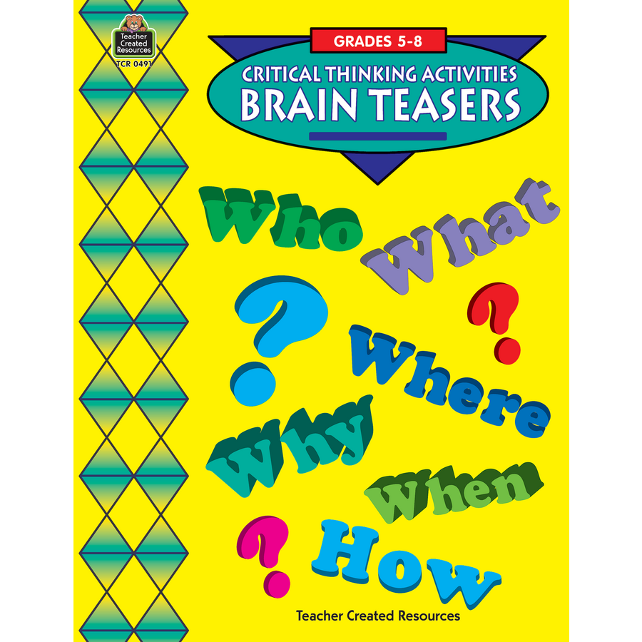 Worksheets Teacher Created Materials Inc Worksheets brain teasers challenging tcr0491 teacher created resources image
