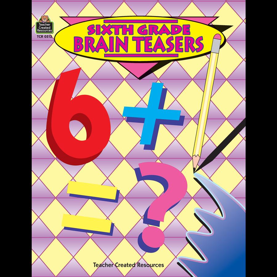 Tcr0512 Sixth Grade Brain Teasers Image