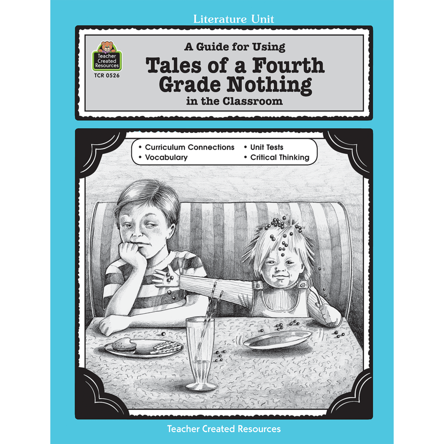 worksheet Tales Of A Fourth Grade Nothing Worksheets a guide for using tales of fourth grade nothing in the classroom tcr0526 image