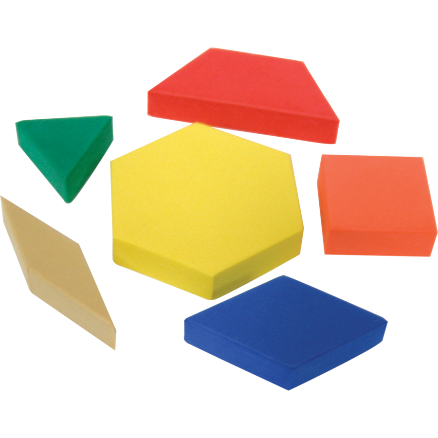 Foam Pattern Blocks 20612 on Preschool Writing