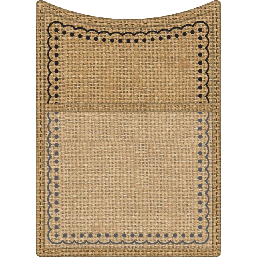 Burlap Magnetic Storage Pocket - TCR20749 | Teacher Created Resources