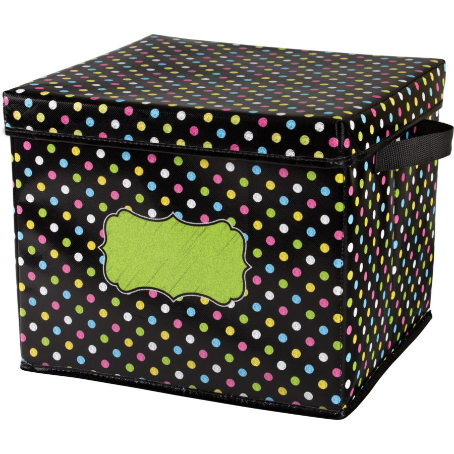 TCR20766 Chalkboard Brights Storage Box Image ...
