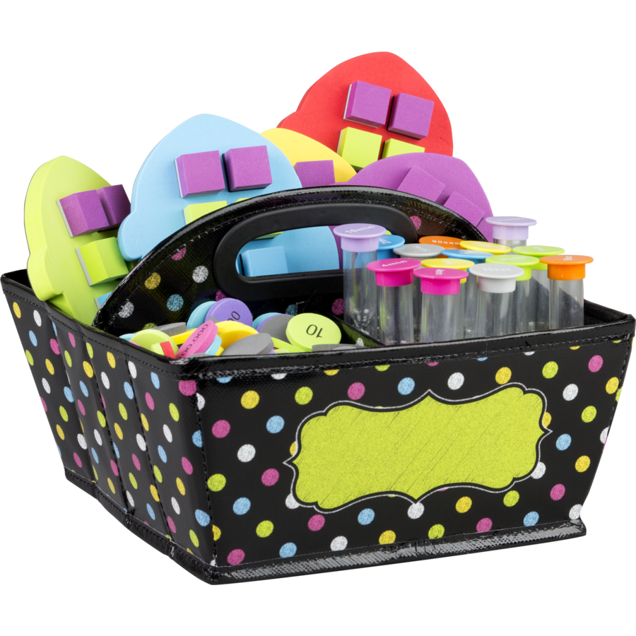 Chalkboard Brights Storage Caddy - TCR20788 | Teacher Created Resources