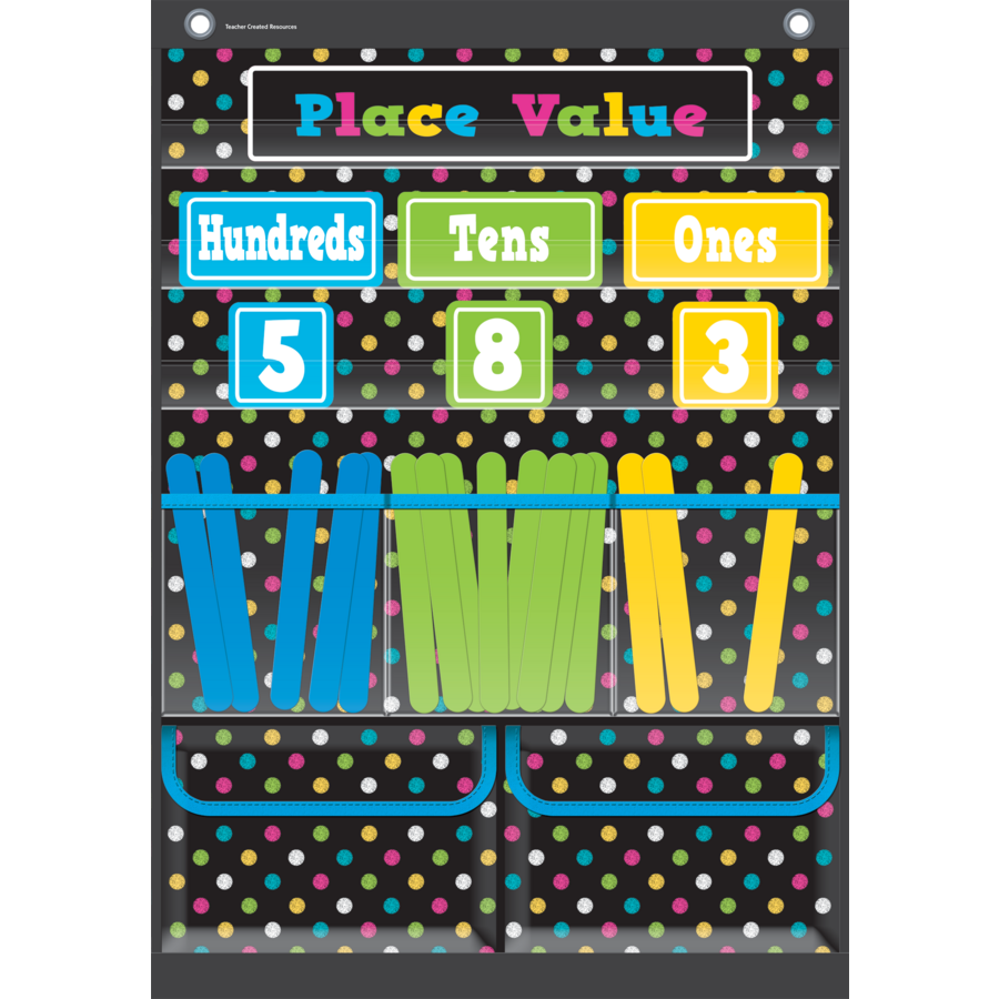 Place value pocket chart tcr20804 teacher created resources