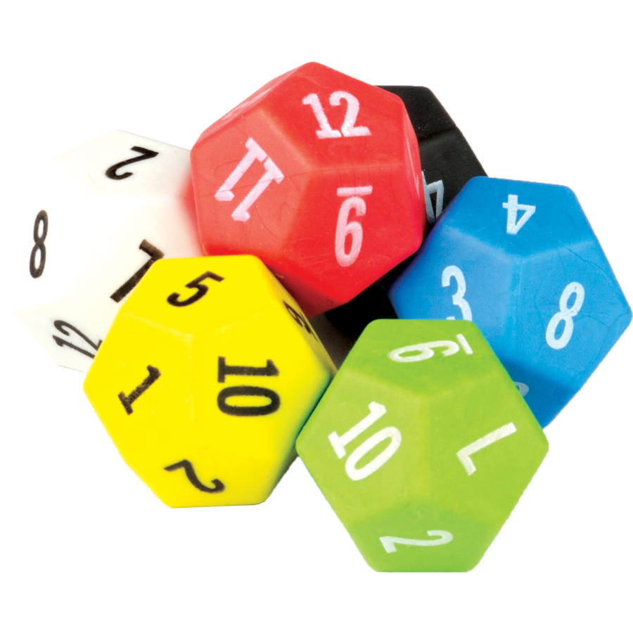 12 sided dice 6 pack tcr20806 teacher created resources