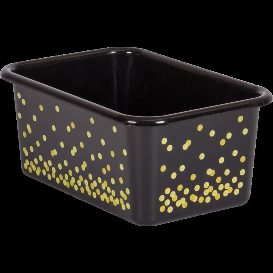 Charmant TCR20889 Black Confetti Small Plastic Storage Bin Image