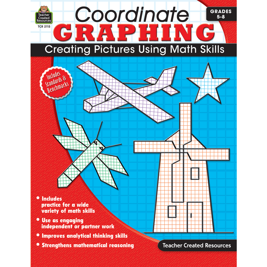 Worksheets Teacher Created Materials Inc Worksheets coordinate graphing grade 5 8 tcr2115 teacher created resources image