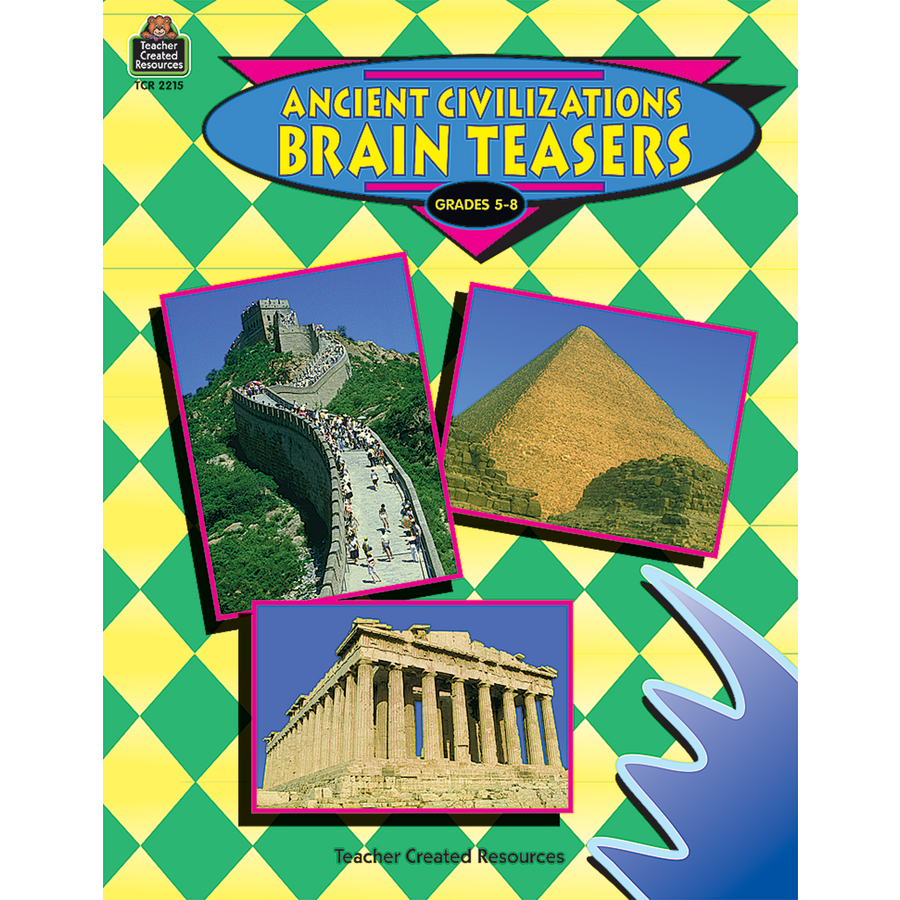 Worksheets Teacher Created Materials Inc Worksheets ancient civilizations brain teasers tcr2215 teacher created image