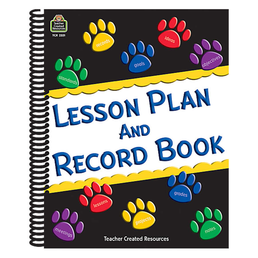 paw prints lesson plan and record book tcr2551 teacher created
