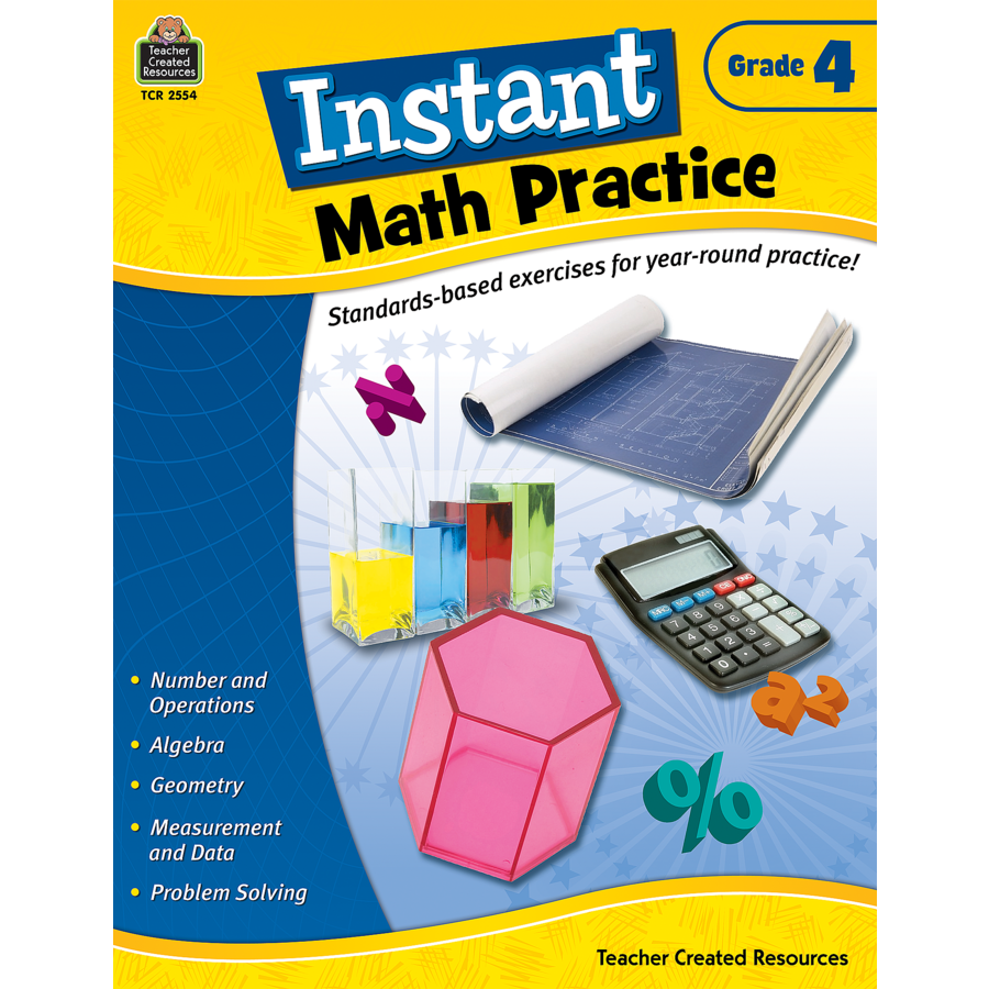 Instant Math Practice Grade 4 - TCR2554 | Teacher Created Resources