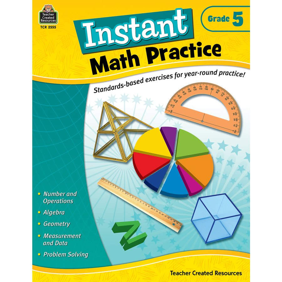 Instant Math Practice Grade 5 - TCR2555 | Teacher Created Resources