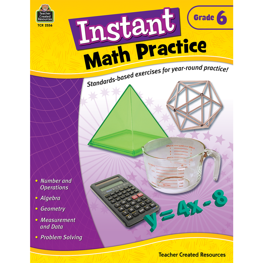 Instant Math Practice Grade 6 - TCR2556 | Teacher Created Resources