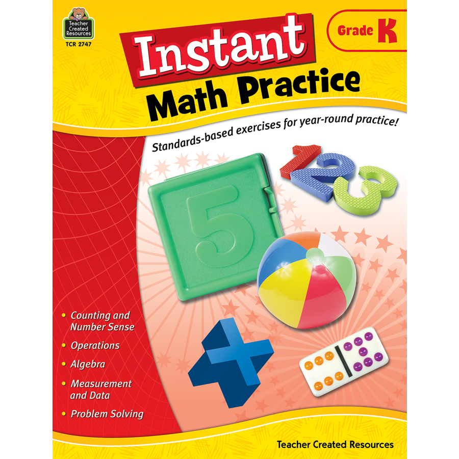 Instant Math Practice Grade K - TCR2747 | Teacher Created Resources
