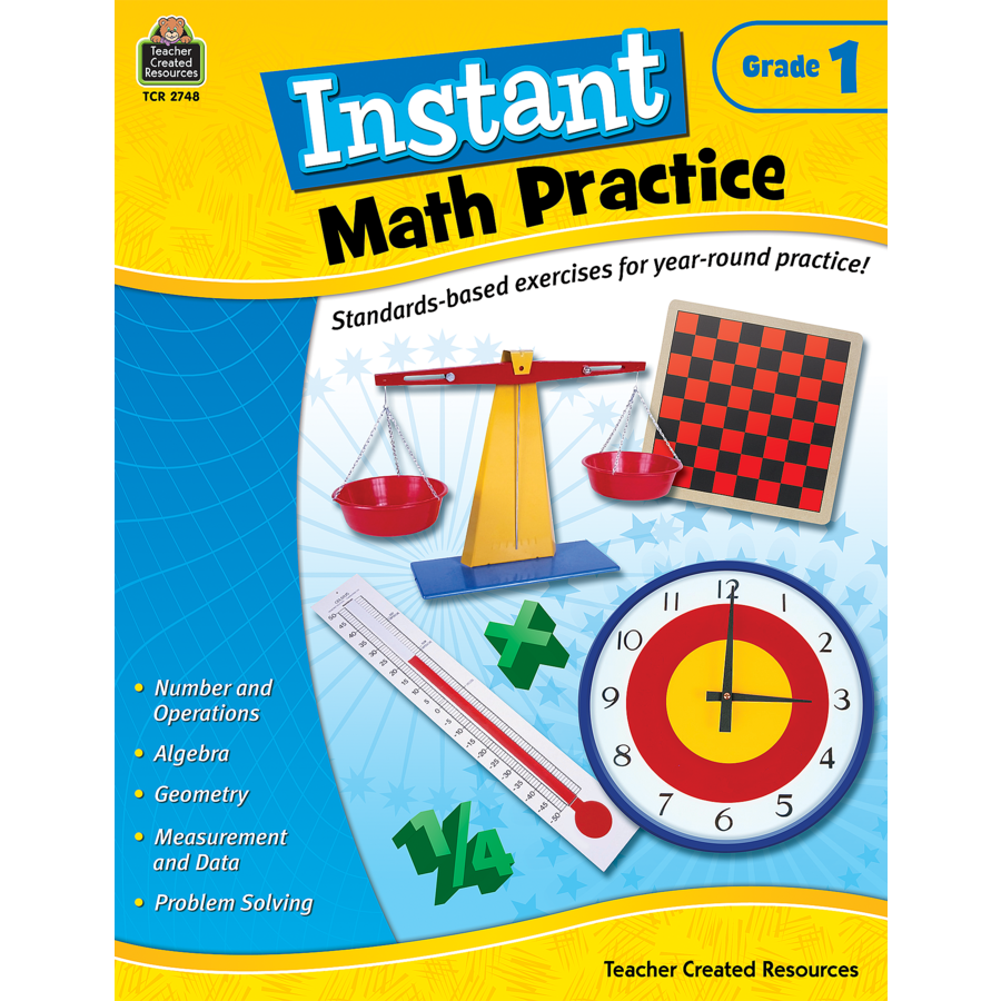 Instant Math Practice Grade 1 - TCR2748 | Teacher Created Resources
