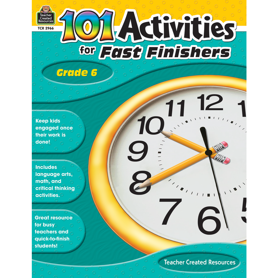 101 Activities For Fast Finishers Grade 6 - TCR2966 | Teacher ...