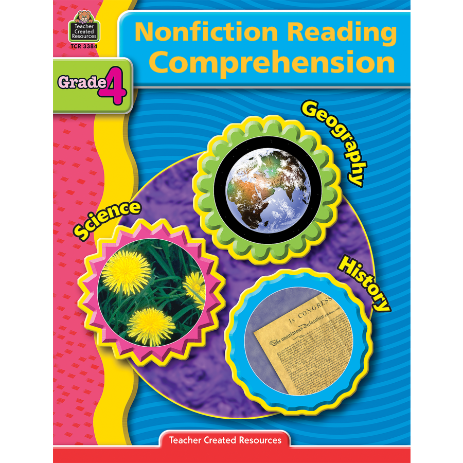 worksheet Cross Curricular Reading Comprehension Worksheets nonfiction reading comprehension grade 4 tcr3384 teacher created image