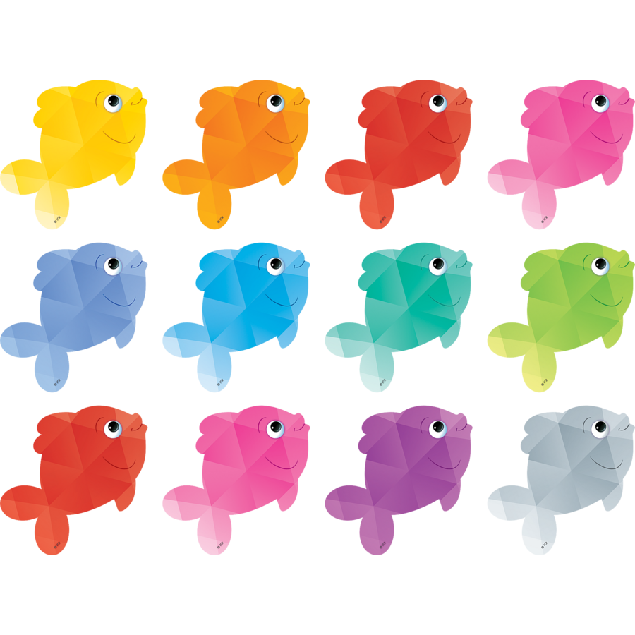 Colorful fish mini accents tcr3551 teacher created for 99 5 the fish
