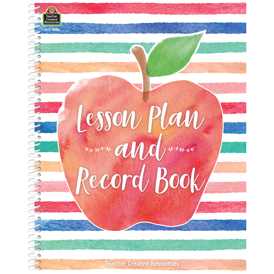 Watercolor Lesson Plan and Record Book - TCR3586 | Teacher Created ...