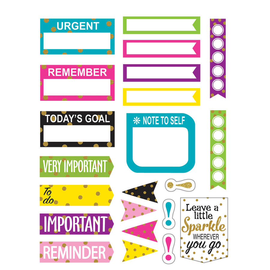 Confetti Planner Stickers Tcr3589 Teacher Created