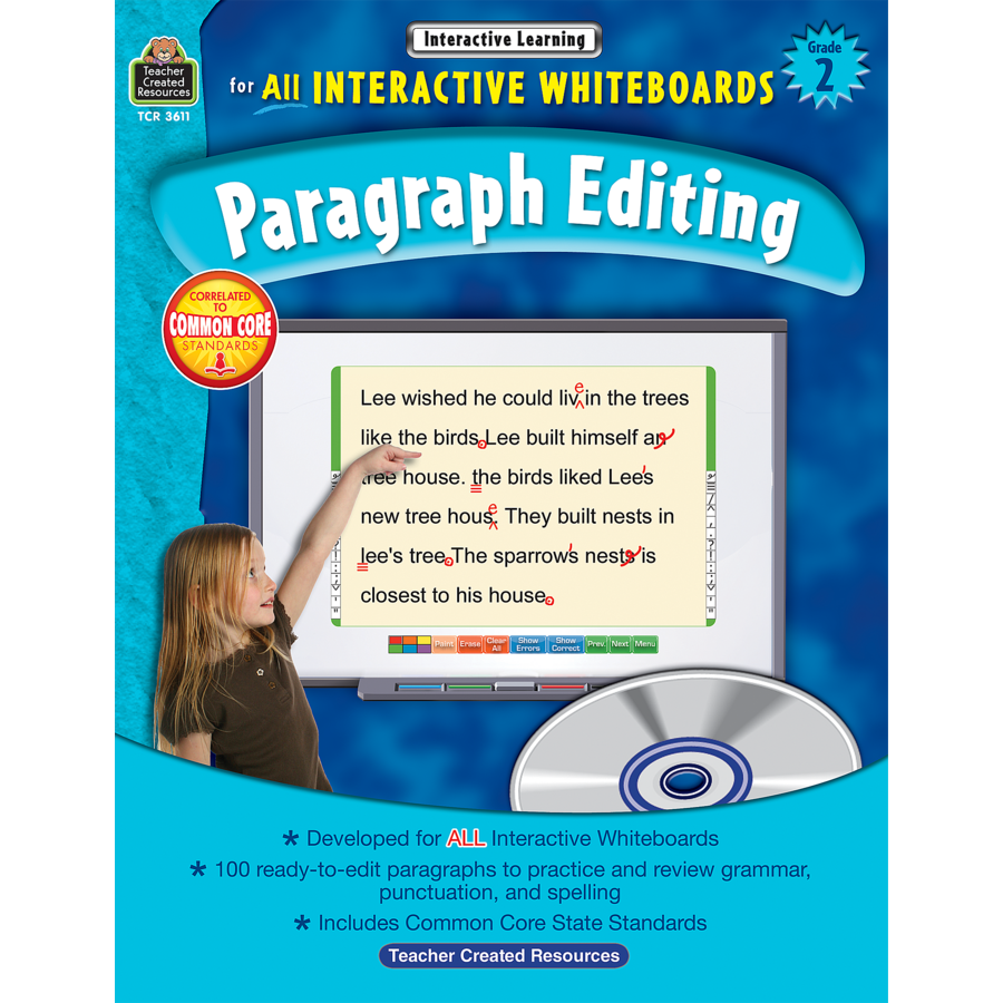 Interactive Learning: Paragraph Editing Grade 2 - TCR3611 | Teacher ...