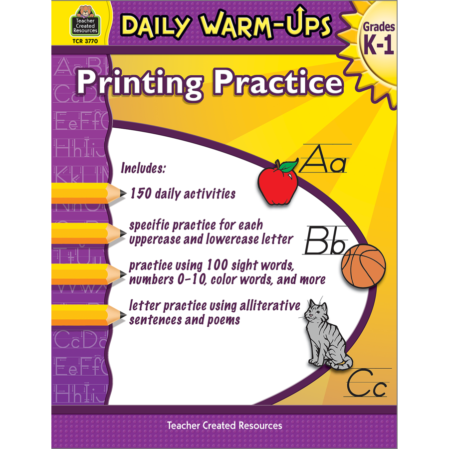 TCR3770 Daily Warm Ups Printing Practice Grades K 1 Image