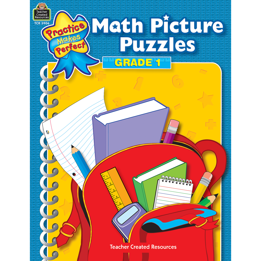 Math Picture Puzzles Grade 1 - TCR3906 | Teacher Created Resources