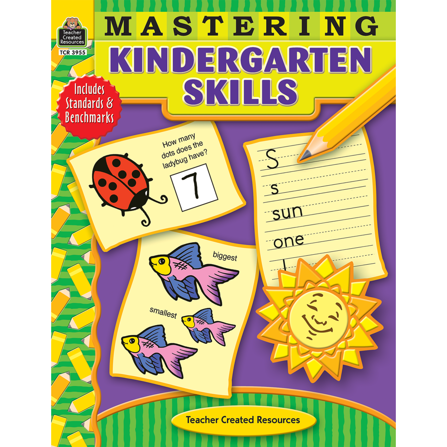Worksheets Teacher Created Materials Inc Worksheets mastering kindergarten skills tcr3955 teacher created resources image